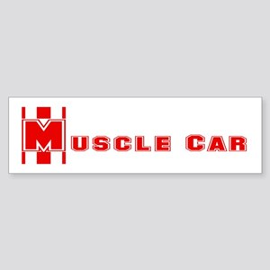 Retro Muscle car stripe-red- Bumper Sticker